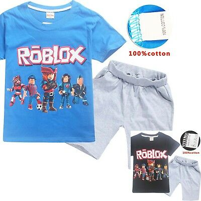 ROBLOX boys kids summer set short sleeve pyjama pjs size 4-12 AU 100% cotton