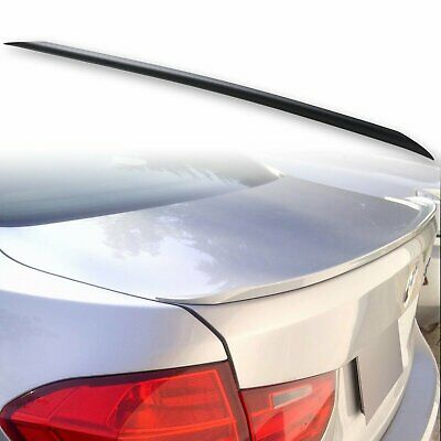 Fyralip S Style Trunk Lip Spoiler For BMW 3 Series F30 Sedan 12-18 Unpainted