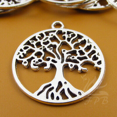 Tree Of Life Charms 29mm Wholesale Antiqued Silver Plated Pendants - 4/15/30PCs