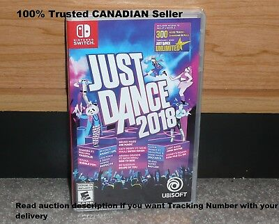 Nintendo Switch - JUST DANCE 2018 (Brand New Sealed) NTSC worldwideship 2017/18