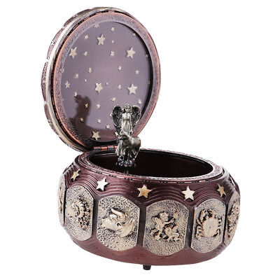 MagiDeal Zodiac 12 Signs Music Box w/Colorful Led Musical Boxes Gift -Taurus