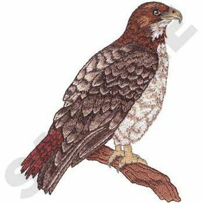 """Red-Tailed Hawk Embroidered Patch 5"""" x  6.1"""""""