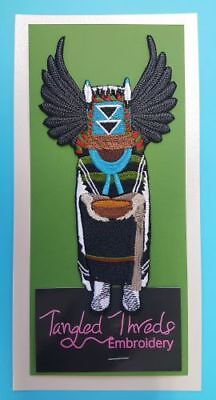 """Kachina, Crow Dancer Mother Embroidered Patch 3.4""""x.6.8"""""""
