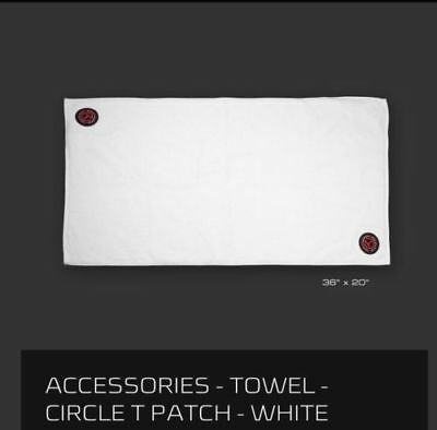 """2017 Scotty Cameron Circle T Patch Players Towel 36"""" x 20"""" White CT"""
