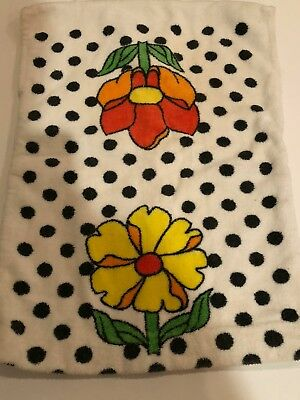 Vintage 1960s Terry cloth swimsuit cover up 24m girl floral