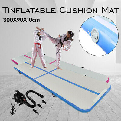 3m AirTrack Inflatable Air Track Floor Gymnastics Tumbling Mat GYM Yoga w/ Pump