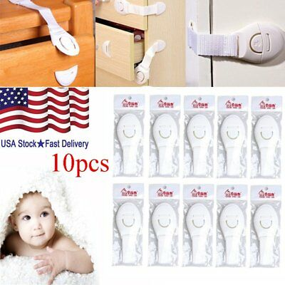 10pcs Portable Adhesive Safety Locks Latches Child Safty Lock for Fridge Drawer