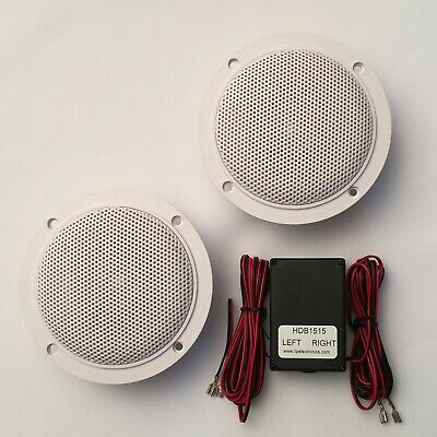 Bathroom or Kitchen Wireless Bluetooth Amplifier  Ceiling Speakers (S15LW)