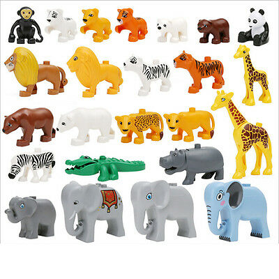 Classic Animal Zoo Big Building Blocks Educational Child Baby Toys Kid Gift EF