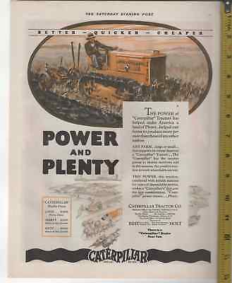 1927 Caterpillar Two Ton Crawler Tractor in Hwy Yellow AD 11x13 Color