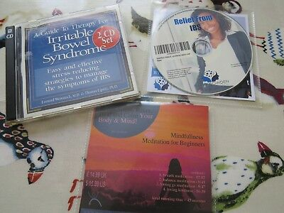 3 CD collection for IBS; Relief from IBS Hypnotherapy, mindfullness meditation..
