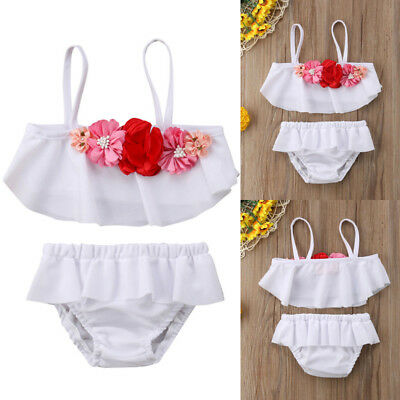 Kids Baby Girls Swimwear Bikini Set Swimsuit Two Piece Swimmers Bathers Clothes