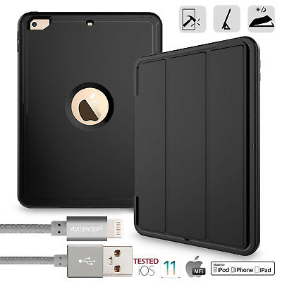 [+Lightning Cable] Shockproof Full Protective Stand Case For iPad 6th 2018-A1893