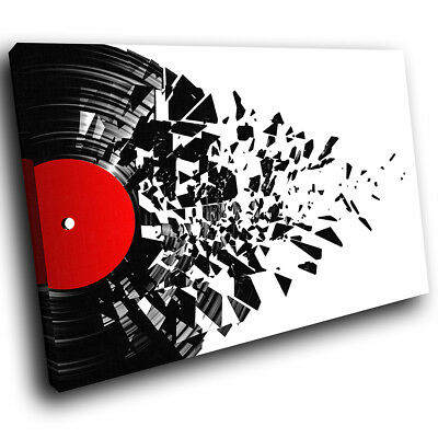 ZAB683 Black Red White Music Modern Canvas Abstract Wall Art Picture Prints