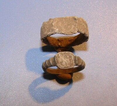 Ancient bronze  rings  Middle Ages. Оriginal.