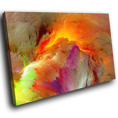 ZAB650 Retro Pink Cool Funky Modern Canvas Abstract Wall Art Picture Prints