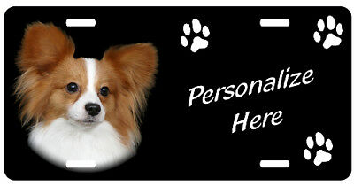 Papillon  # 3  Personalized Pet License Plate