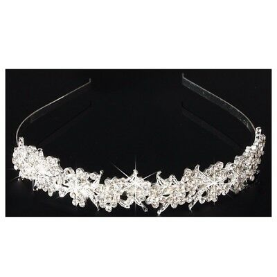Bridal Wedding Rhinestone Crystal Tiara Crown Hair Band Headband Prom Pagea N6A0