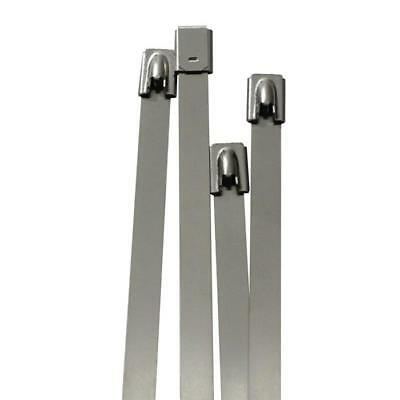 10x Stainlees steel Cable tie 520 x 7,9mm ; metal up to 500°C 114kg strength