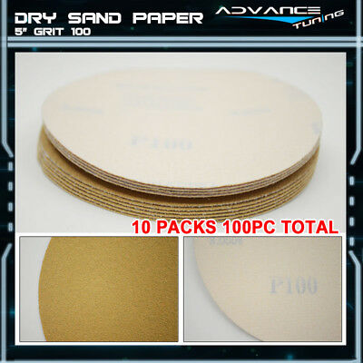 Disc 100 Grit 5 PSA Auto Sanding Paper Sheets Repair Sandpaper Magic Tape 100PCS