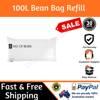 100 Litre Bean Bag Beans Polystyrene Refill Filling Beads Filler 100L Pet Bed