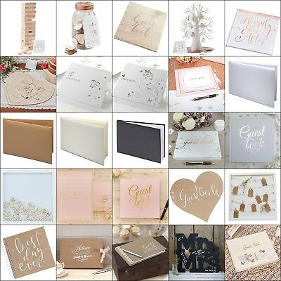 Wedding Guest Book Bride Groom Guest Favour Party Reception Supplies