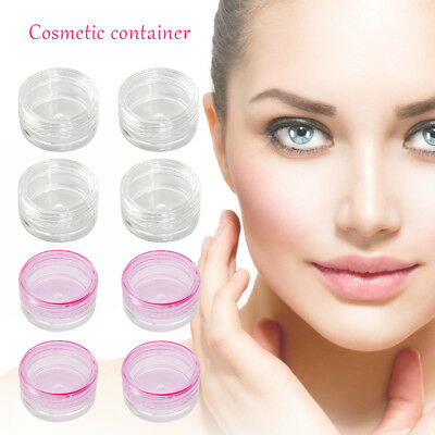 1/10/20/50 Small Clear Plastic Sample Container Mini Bottle Pot Makeup Tool