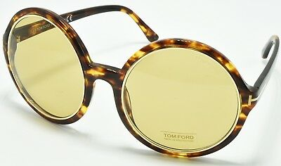 d82f2890a2 Tom Ford TF268 52J Carrie Sunglasses Havana Frame Brown Lens 59-22-140 DEMO