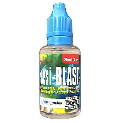 resi-BLAST 25ml, Resin Art Disturbance Media to Create Cell and Lace Effects