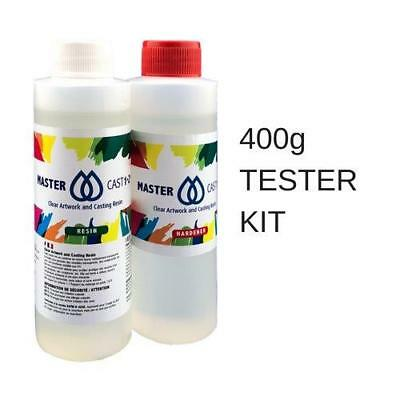Clear Resin Epoxy Art Grade 400ml kit UV Stable Non Hazardous, MasterCast