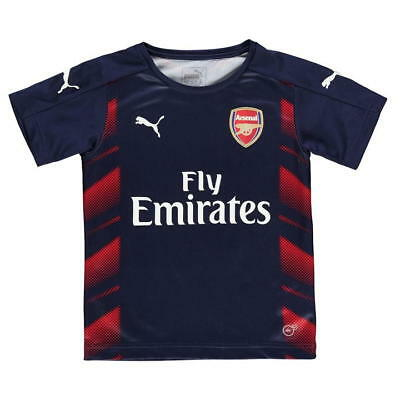 f96fe0afc Puma Arsenal FC Stadium Training Jersey Short Sleeve Navy Red Men s Size  Small