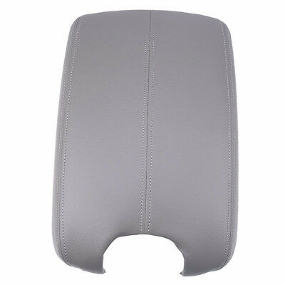 Fits 2008-2012 Honda Accord Synthetic Leather Console Lid Armrest Cover Gray