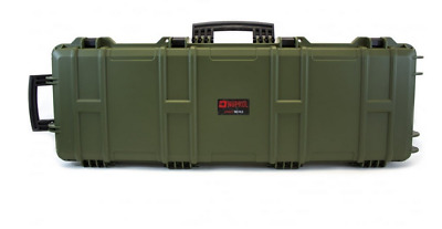 Nuprol Airsoft Hard Case Green Egg Foam Rifle Storage Paintball
