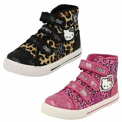 Girls Hello Kitty Hi Top Canvas Trainer 'Norland'