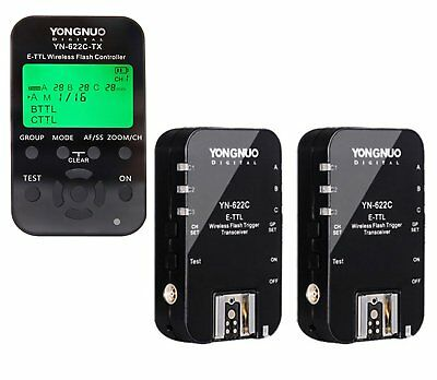 Yongnuo YN-622C-TX Wireless Flash Transmitter & 2PC YN-622C Trigger for Canon US
