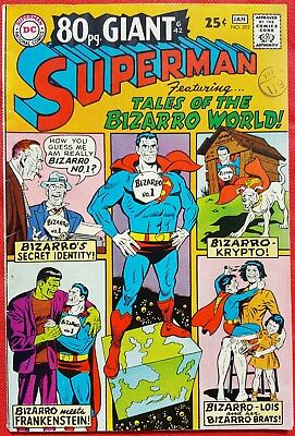 Superman 202 DC Silver Age 1967 80 pg Giant Special