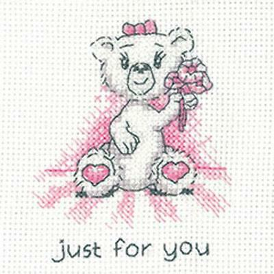 Just For You Cross Stitch Card Kit By Heritage Crafts
