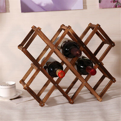 Wooden Red Wine Rack Bottle Mount Holder Kitchen Exhibition Organizer Rack