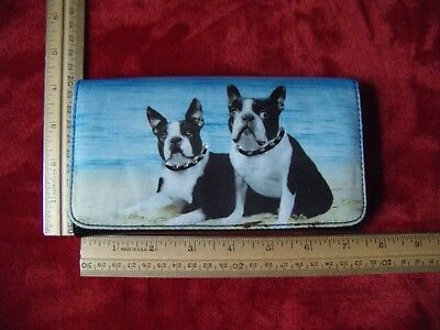 """Boston Terrier """"bling collar"""" wallet, EUC,  Never Used, See Pics***"""