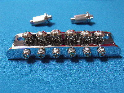 Chrome Guitar Roller Bridge 51.5mm Spacing Mosrite Style For Vintage MIJ 60's