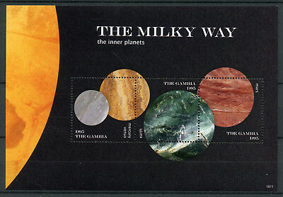 Gambia 2018 MNH Milky Way Inner Planets Mercury Venus Mars 3v M/S I Space Stamps