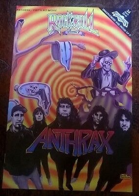 ROCK N ROLL Comics ANTHRAX / FAITH NO MORE 1991 #24 First Printing Very Good