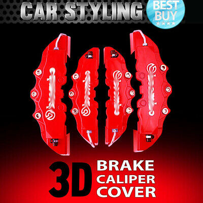 4pcs Red Disc Brake Caliper Covers Kit 3D Styling Front & Rear For Hyundai
