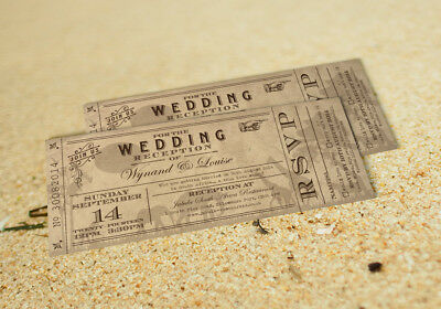 60 Destination Vintage Ticket Safari Wedding Invitations! The Invite Shack
