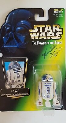 Star Wars - Signed Kenny Baker R2-D2 Figure - Power of the Force 1995