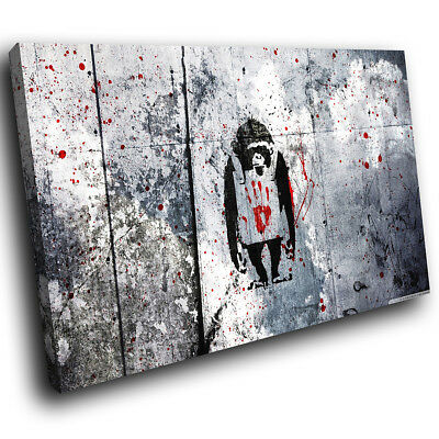 AB231 Monkey Banksy Graffiti Modern Abstract Canvas Wall Art cool Picture Prints