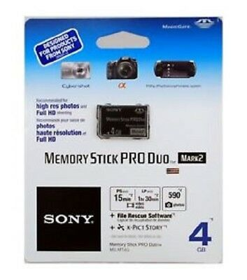 Sony Memory Stick PRO Duo 4 GB Memory Stick PRO Duo Card - Retail - (MSMT4GN)