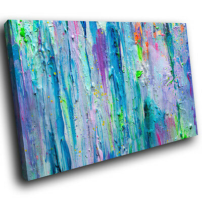 AB1735 Colourful Cool Funky Modern Abstract Canvas Wall Art Large Picture Prints
