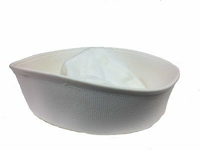 US issue Navy Dixie Cup Enlisted Sailor Hat, White size Large (7 1/2)