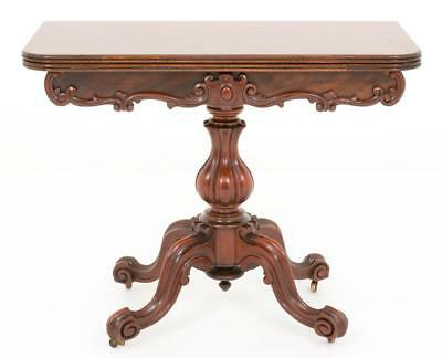 Victorian Mahogany Card Table - Games Tables 1860